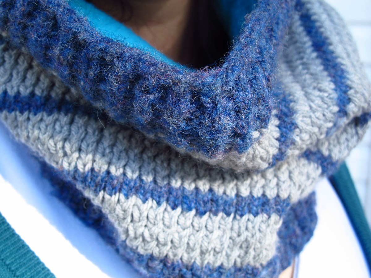 DIY: Super Cozy Striped Cowl and Free Pattern
