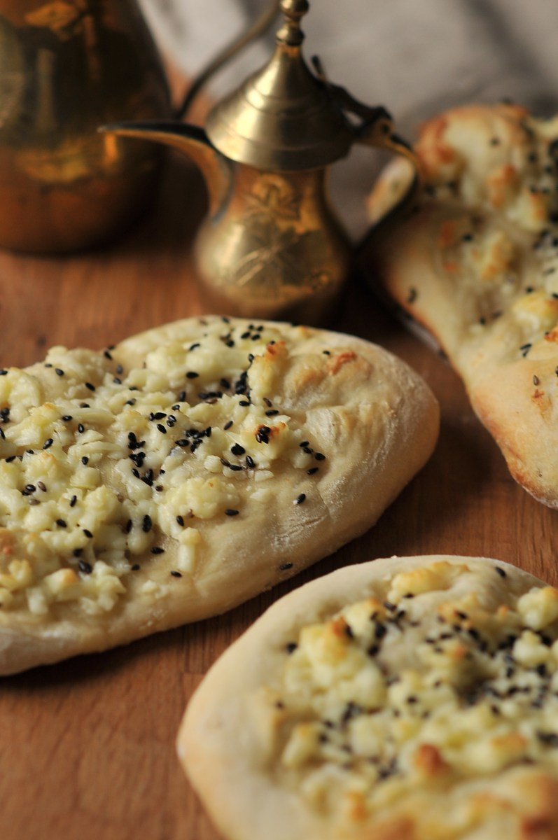 Akkawi Manakeesh - Arabic Cheese Bread with Nigella