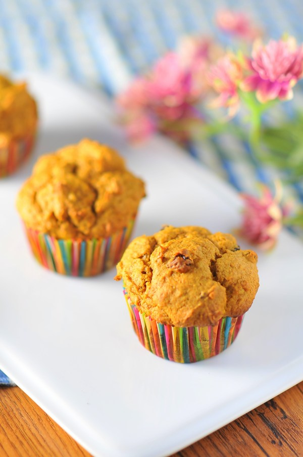 Walnut Raisin Pumpkin Spice Muffins