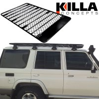 Alloy Roof Rack Landcruiser 76 Series Wagon Low Profile 2 ...