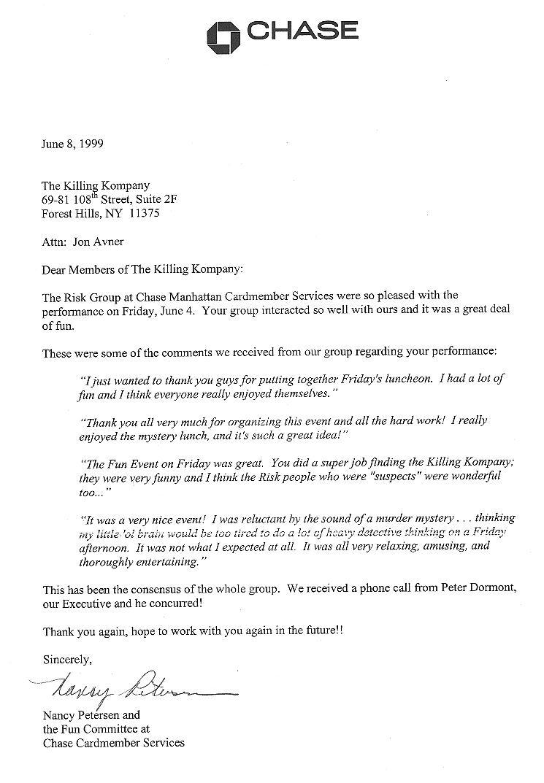 Bank Reference Letter Sample Chase – Bank Reference Letter