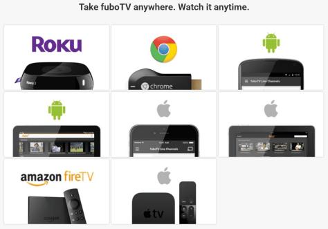 FuboTV Streaming Devices