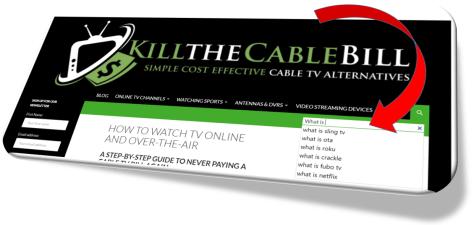 KilltheCableBill Search Bar