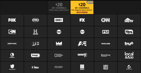 Sling TV Multi-Stream Channels