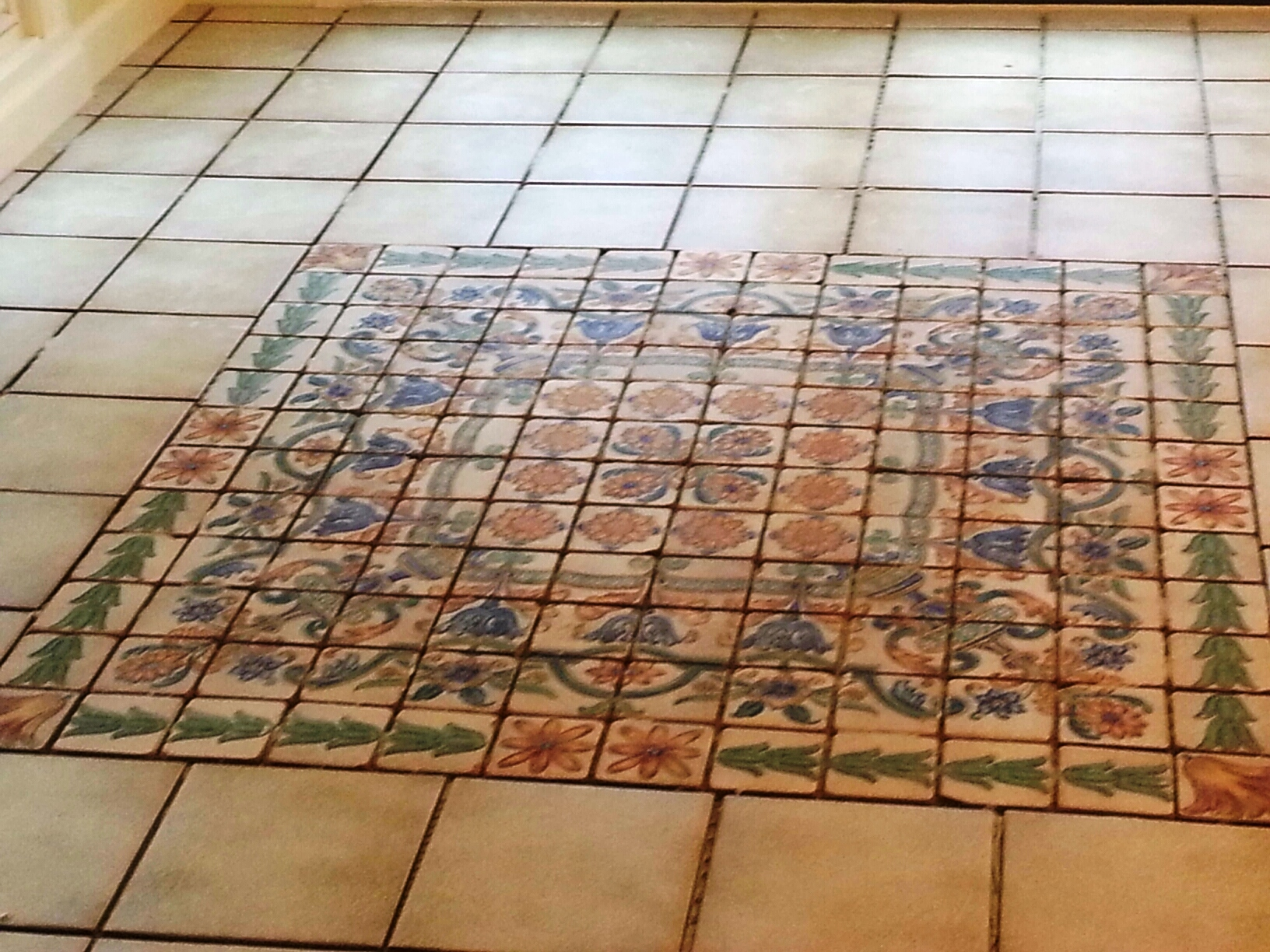 Sun Room Ceramic Tile And Ceramic Hand Painted Mosaic Are