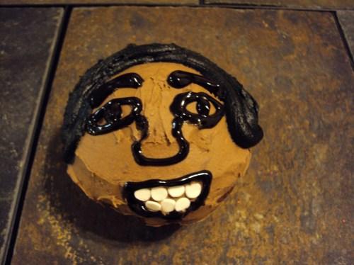 michael jackson cupcake afro