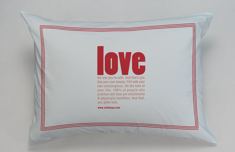 A Lot To Say Love Pillowcase