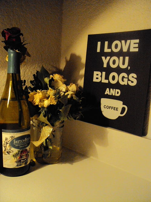 made by girl i love you blogs and coffee print