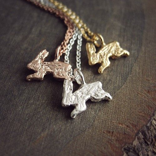 year of the rabbit petit lapin necklace sterling silver