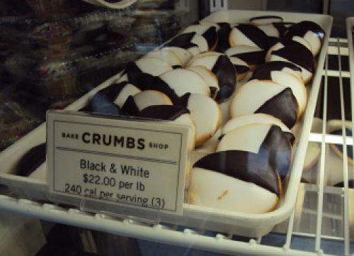 crumbs mini black and white cookies