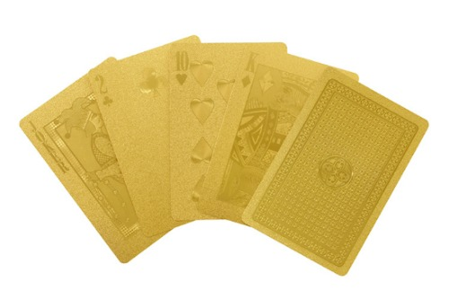 horne gold playing card set idea