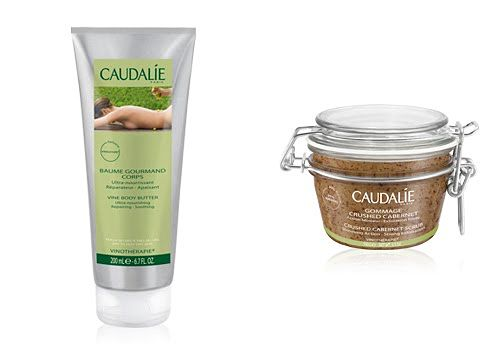 caudalie vine body butter and crushed cabernet scrub