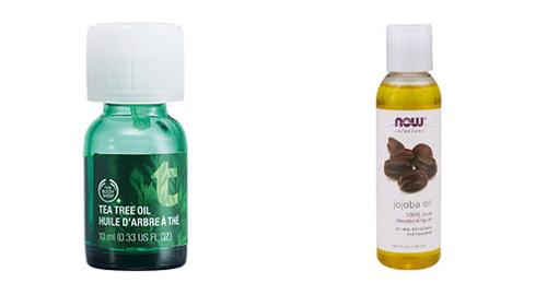 tea tree oil and jojoba oil