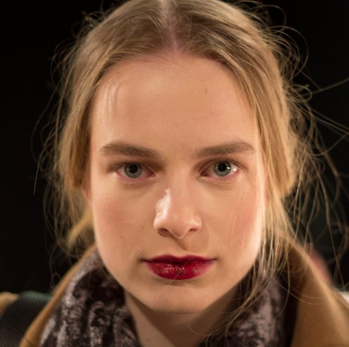 sally lapointe fall/winter 2013 show backstage beauty bold brows berry lips