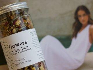 plantfolk flowers in her hair nourishing floral hair rinse