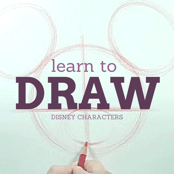 learning to draw Disney characters