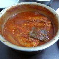 Galchi Jorim (갈치조림) - hairtail fish braised in spicy sauce