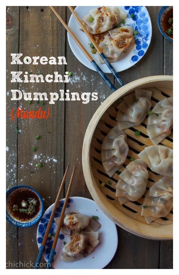 Korean Kimchi Dumplings (Mandu) - KimchiChick