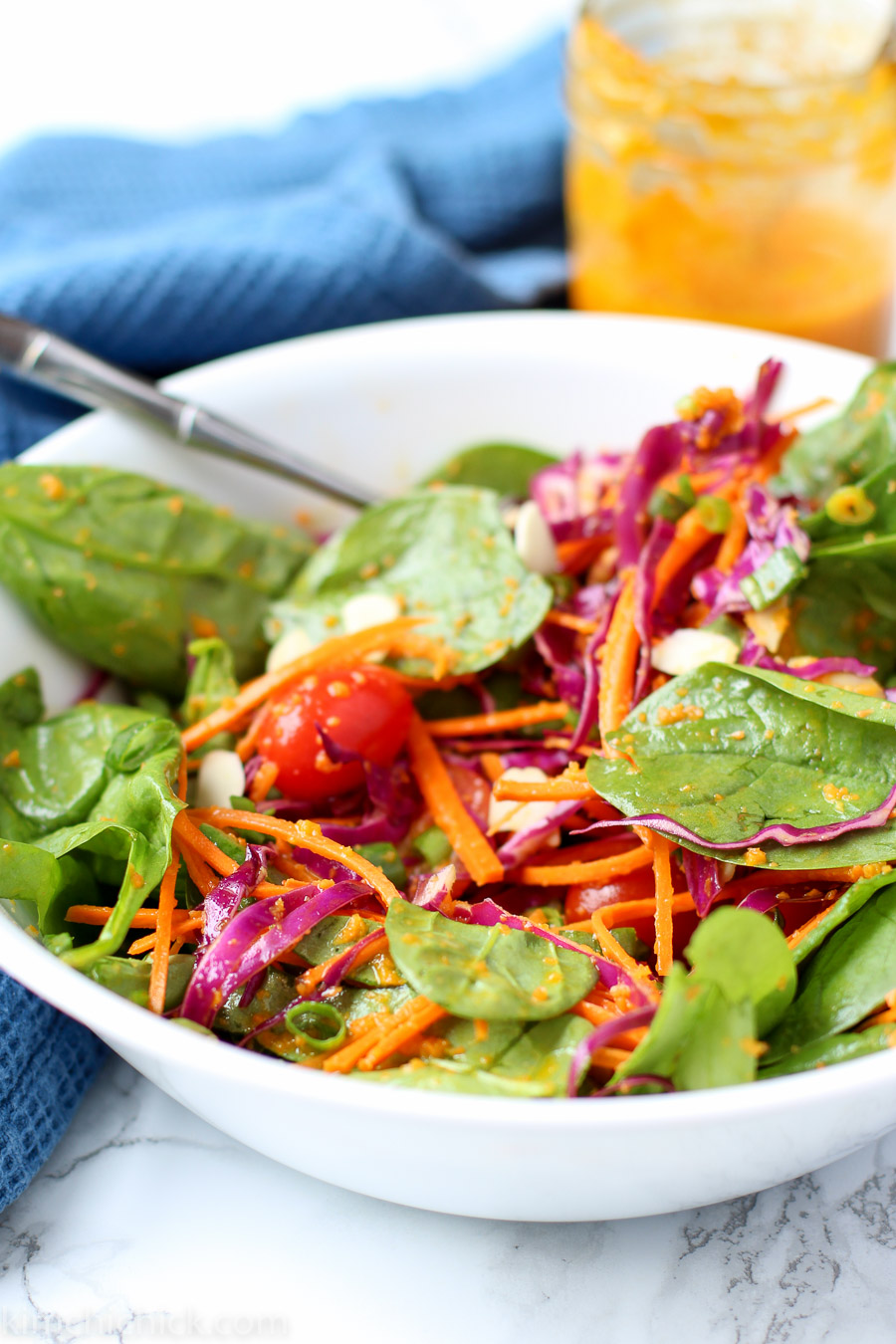 Carrot ginger miso dressing is a fresh and bright salad dressing that ...