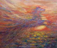 Vision at Sea, pastel over watercolor painting by Kim Novak. Posted August 27, 2015© 2015 Kim Novak.