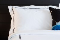 Black Embroidered Pillow Shams | Kimpton Style