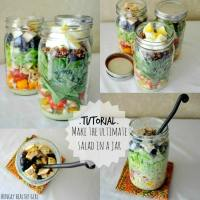 Tutorial- The Ultimate Salad in a Jar and How to Make Salads for the Week in One Day