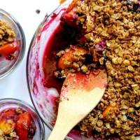 Easy Peach Blueberry Crisp (revisited)