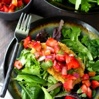 Easy Baked Pork Chops with Strawberry Salsa