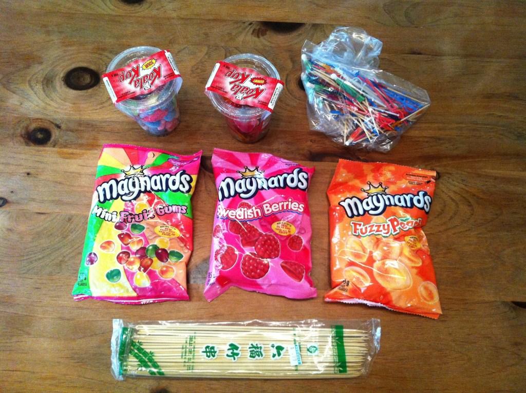 Gummy Skewer Dessert Materials
