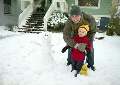 Owen's First Snowman
