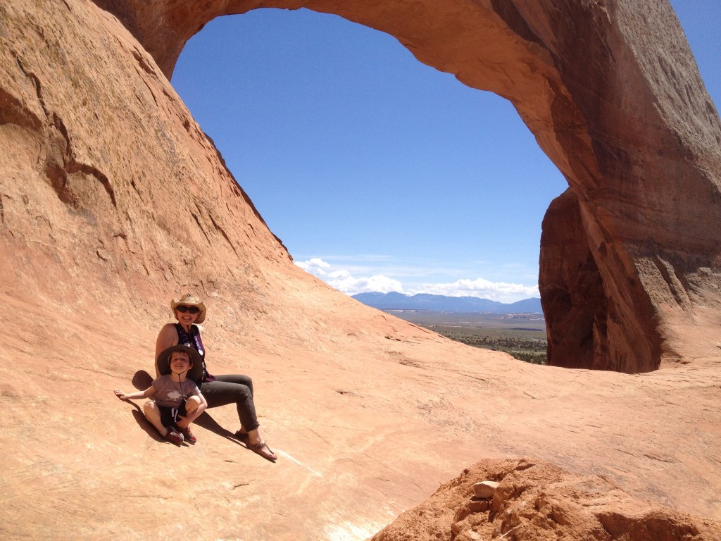 On an arch in Utah.