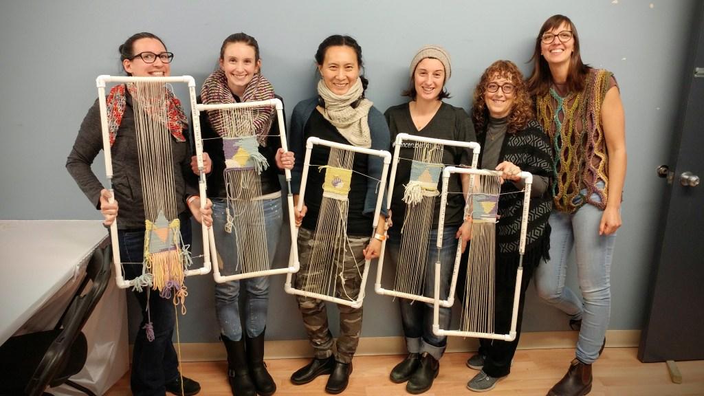Tapestry weaving class - http://kimwerker.com/blog