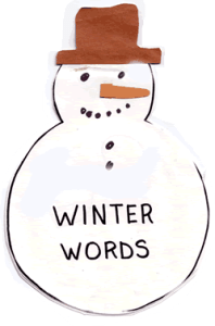 Winter theme vocabulary