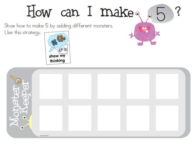 monster numbers {tools to learn 0-10} - KindergartenWorks