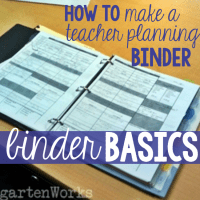 Binder Basics {How to Make a Teacher Planning Binder}