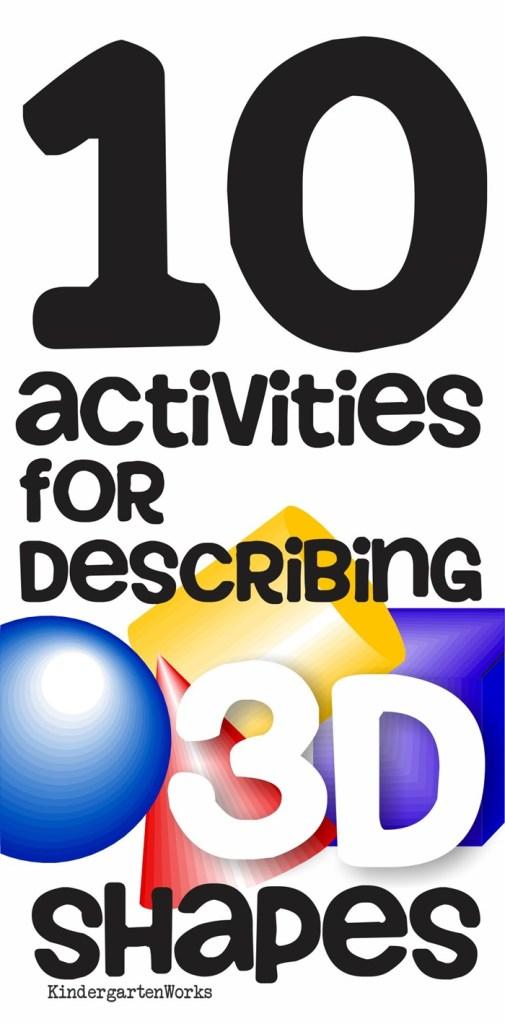 KindergartenWorks :: 10 Activities for Describing 3D Shapes in Kindergarten (K.G.3)
