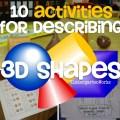 describing 3d shapes kindergarten common core