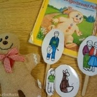 retell literacy center activity - The Gingerbread Man