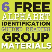 Alphabet Identification - 6 Guided Reading Skill Group Materials {Free Printables}