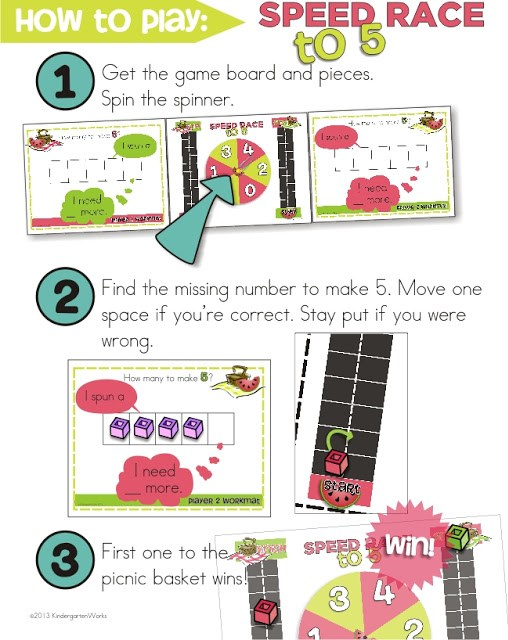 KindergartenWorks: making 5 fluency ideas and games