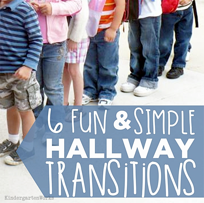 6 Fun and Simple Hallway Transitions {Printable}