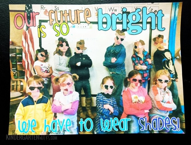 end of the year class photo idea - bright future by KindergartenWorks