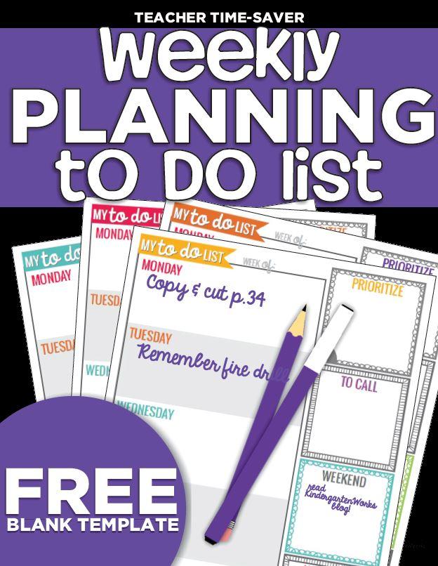 weekly teacher planning to do list
