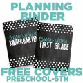 Chalkboard Teacher Planning Binder Covers {Printable}