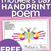 Mothers Day Handprint Poem {printable}