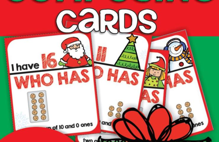 Christmas Teen Numbers I Have Who Has Card Game {Printable}