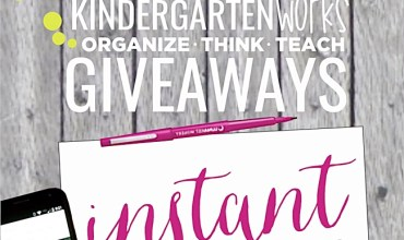 Giveaways on KindergartenWorks {Update}
