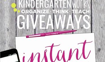 Giveaways on KindergartenWorks {Update}