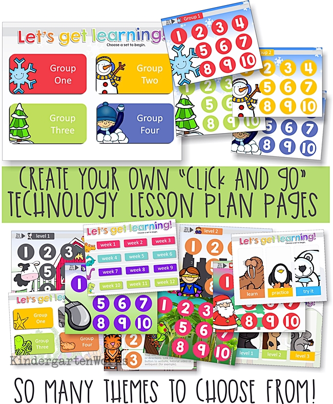 Easy K-2 Simple Computer Lesson Plan Templates KindergartenWorks