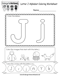 alphabet letter j coloring pages
